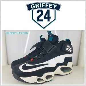 Nike Air Griffey Max 1 Freshwater Ken Black White 354912 101 Sz 9